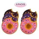 Funkeet Inflatable Drink Holder Pool Beverage Donuts Floaties, Party Favors - 6 Pack