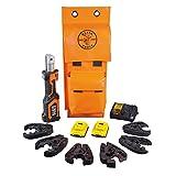 Klein Tools BAT20-7T14 Cutting and Crimping Tool, Cable Crimper and Cutter, 3 Cutting, 3 Crimping Jaws, Uses 2 Ah DeWALT 20V Batteries