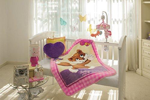 Baby Mink Ultra Soft Plush Fleece Blanket Frisky - Mink Fox Rabbit