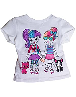 Girls Clothing Black Leggings and Garanimals Two Chatting Girls 2T