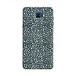 Cover It Up - Brown Navy Pebbles Mosaic Galaxy C7 Pro Hard Case