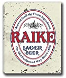 "RAIKE Lager Beer Stretched Canvas Sign 24"" x 30"""