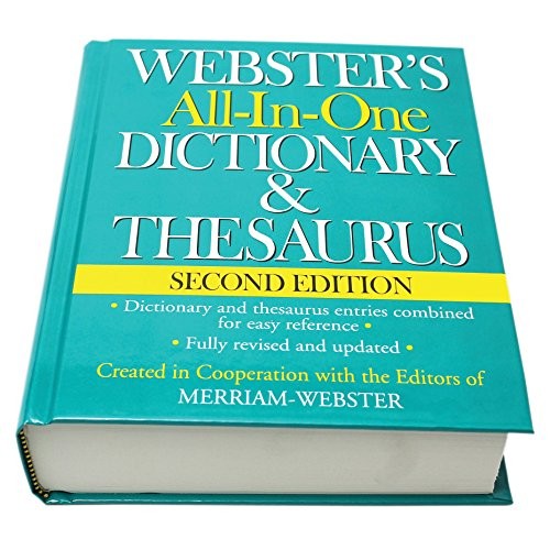 - Webster's All-In-One Dictionary & Thesaurus