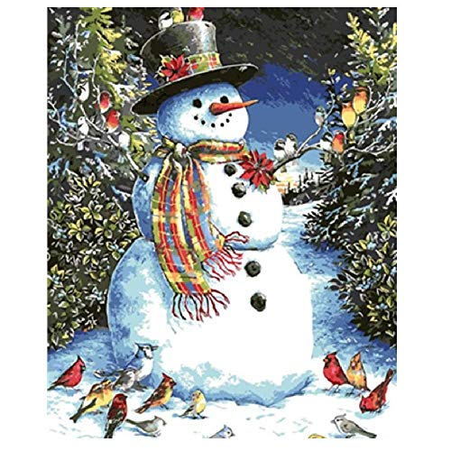 (Classic Jigsaw Puzzle 1000 Pieces Adult Puzzles Wooden Puzzles DIY Birds and Snowmen Living Room Decoration Art Picture Gift 75X50Cm)