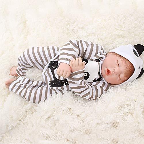 Happy OtardDolls 20 inches 50cm Soft Silicone Simulation Rebirth Doll Newborn Babies Cute Sleeping Toy 0-12 Months Baby Toys Kid Present -