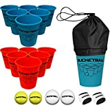 BucketBall - Beach Edition - Ultimate Beach, Poolside, Backyard, Camping, Tailgate, Yard, Lawn, Outdoor Game - Perfect Outdoor Indoor Gift for Boys, Girls, Teens, Family