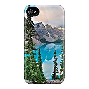 Iphone High Quality Tpu Case/ Lake Moraine HStyrJk6526mSFYo Case Cover For Iphone 4/4s