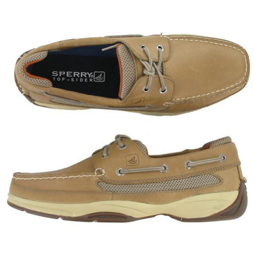 Sperry Top-Sider Lanyard 2-Eye Boat Shoe,Linen,10 M US