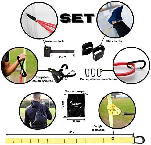 Multifonction Maison ou Musculation ext/érieur. Stretching DARRAW IMPROVE Kit de Bandes /élastiques Fitness 18 Accessoires pour la Pratique de Sport Street Workout assouplissements Musculation