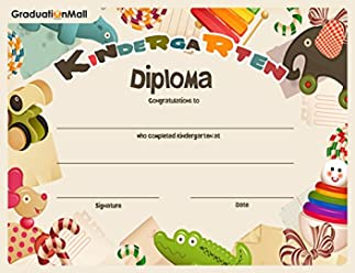 Graduationmall Kindergarten diploma 5 – 30 per confezione (8 1 5 455044fd2839