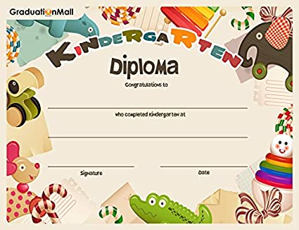 amazon com graduationmall kindergarten diploma 5 30 per pack 8 1 2