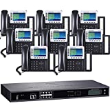 Business Phone System by Grandstream: 8 Line Starter Package w/ 8 24-Button Phones and 1 Year 2 Lines Dialtone Included at no additional cost
