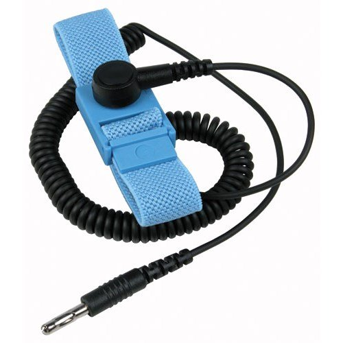 Trustat 04563 Adjustable Wrist Strap with 5' Cord with 360 Degree ''A'' Grade Banana Spring