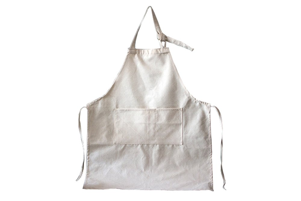 Eachme Baker Apron For Men With Pockets,Canvas Painting Florist Aprons For Women (White)