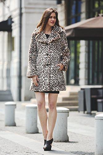 Estampado Leopard Piel de Tres y Vintage Mujer Para Leopardo wxO4ERtqnH