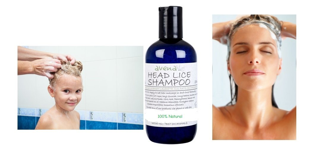 100% Natural Head Lice Shampoo 250ml, SLS & paraben free, suitable for all ages SE_A