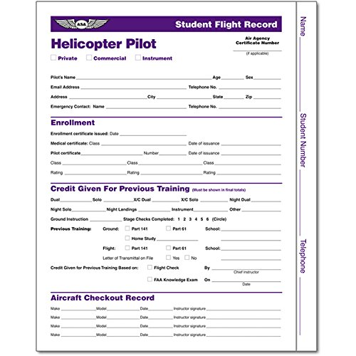 ASA Student Flight Records: Helicopter