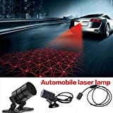 Nessere Car Cool Pattern Anti-Collision Rear Tail Fog Driving Laser Caution Light