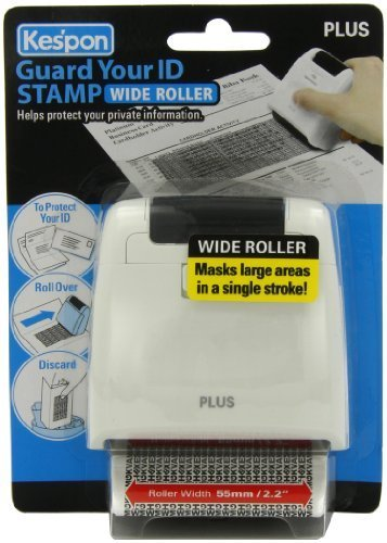 Plus Guard Your ID Wide Roller Stamp, White by Plus