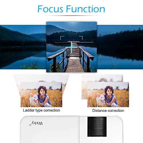 Wsky 2019 Newest LCD LED Outdoor Portable Home Theater Video Projector, Support HD 1080P Best for Outdoor Movie Night, Family, Compatible with Phone, PS4, Xbox, HDMI, USB, SD by Wsky (Image #3)