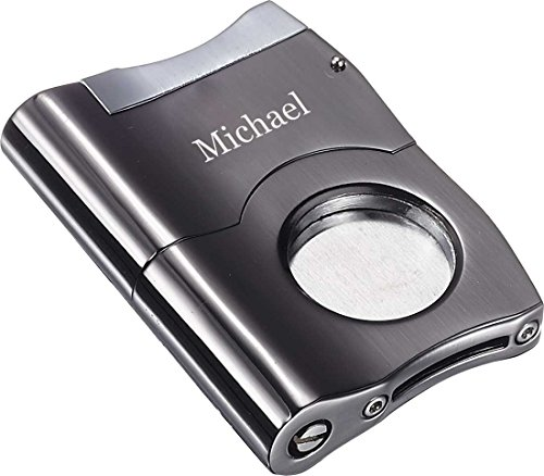Personalized Visol Caracas Gunmetal Finish Stainless Steel Cigar Cutter by Visol