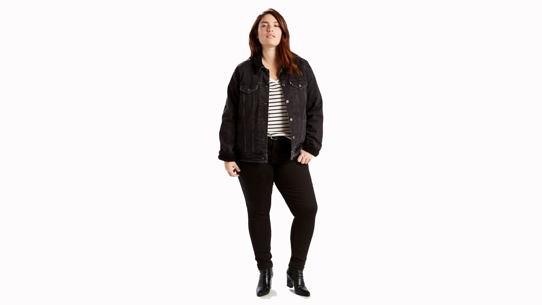 Levi's 36255 Women's 711 PL Skinny Jeans, Blackened Ash - 20xL
