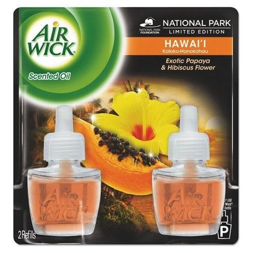 Benckiser Freshener Refill Air (Reckitt Benckiser 85175 Scented Oil Twin Refill, Hawaiian Tropical Sunset, .67oz Bottle)