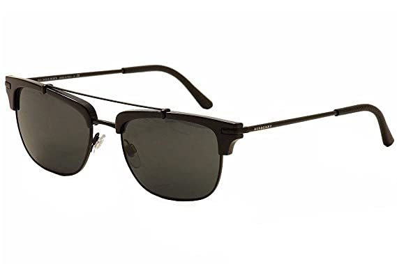8d0465600804 Burberry Men's BE4202Q Sunglasses Matte Black/Dark Grey 54mm at ...