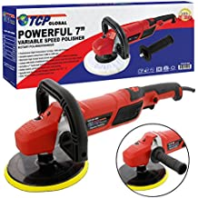 "TCP Global 7"" Professional High Performance Variable Speed Polisher with a Powerful 12 Amp, 1200 Watt Motor - Buff, Polish & Detail Car Auto Paint"