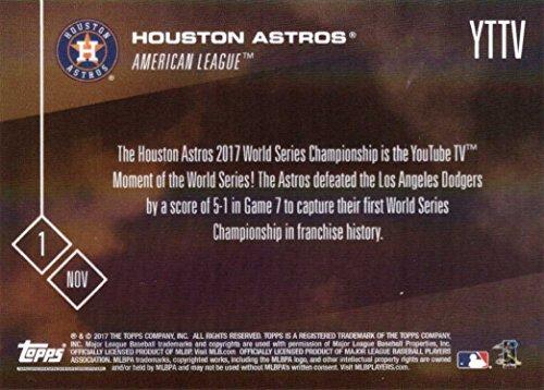 Amazon com: 2017 Topps Now #YTTV Houston Astros World Series