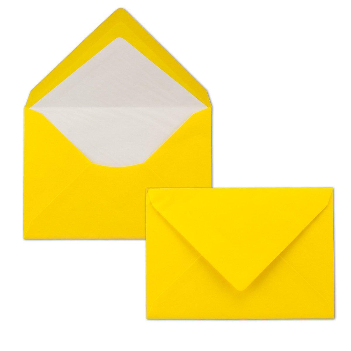 Foderate con carta velina bianca Busta con fodera interna I marca FarbenFroh/® di Gustav NEUSER/® 75 St/ück verde scuro 114 X 162 mm Chiusura adesiva Buste da lettera colorate DIN C6 80 g//m2
