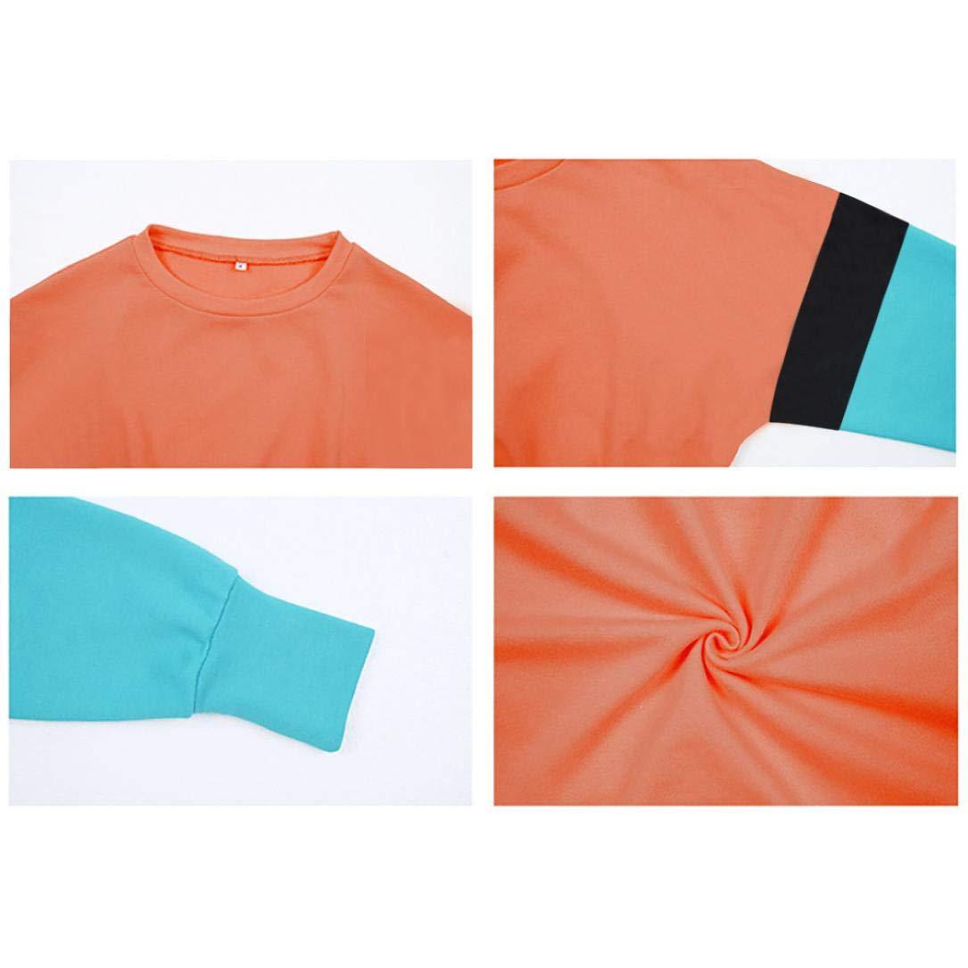 Spbamboo Women Long Sleeve Crop Tops Ladies Patchwork Pullover Hoodie Sweatshirt by Spbamboo (Image #3)
