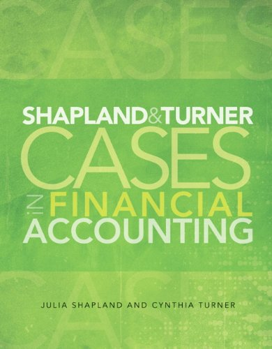 Shapland and Turner Cases in Financial Accounting (Turner Case)