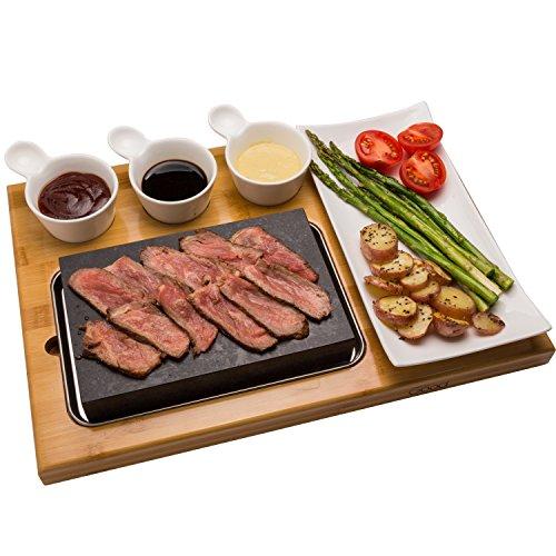 Cooking Stone Lava Hot Steak Plate Cold Rock Hibachi