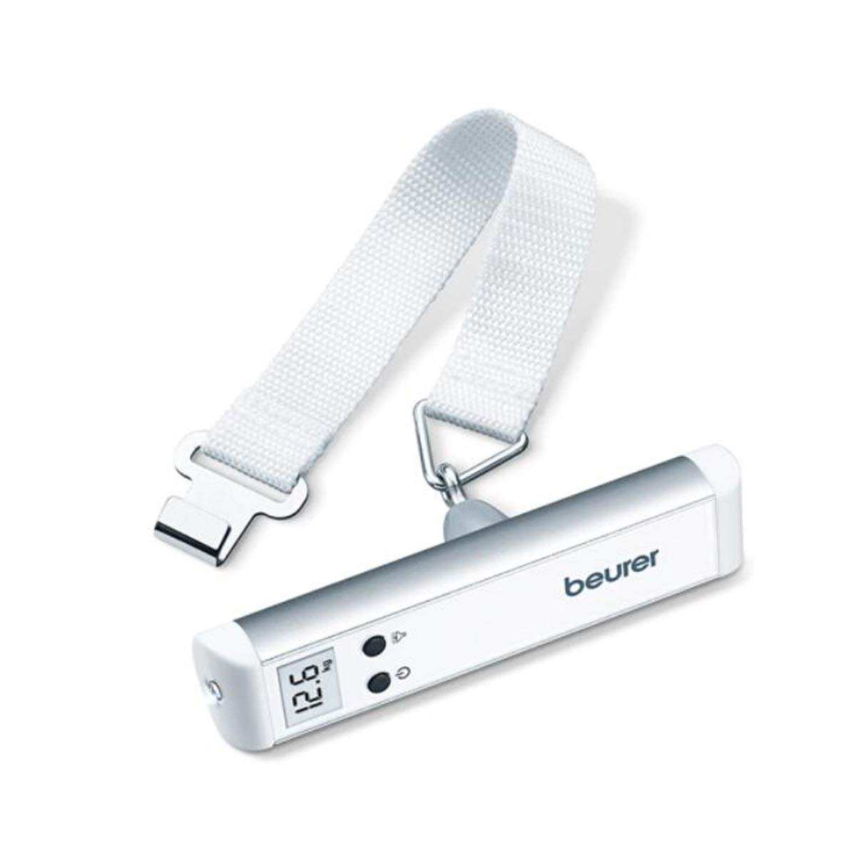 Kaiyitong Electronic Scale, Portable Portable Scale, High Precision Electronic Scale Mini Scale, 50kg (Color : White)