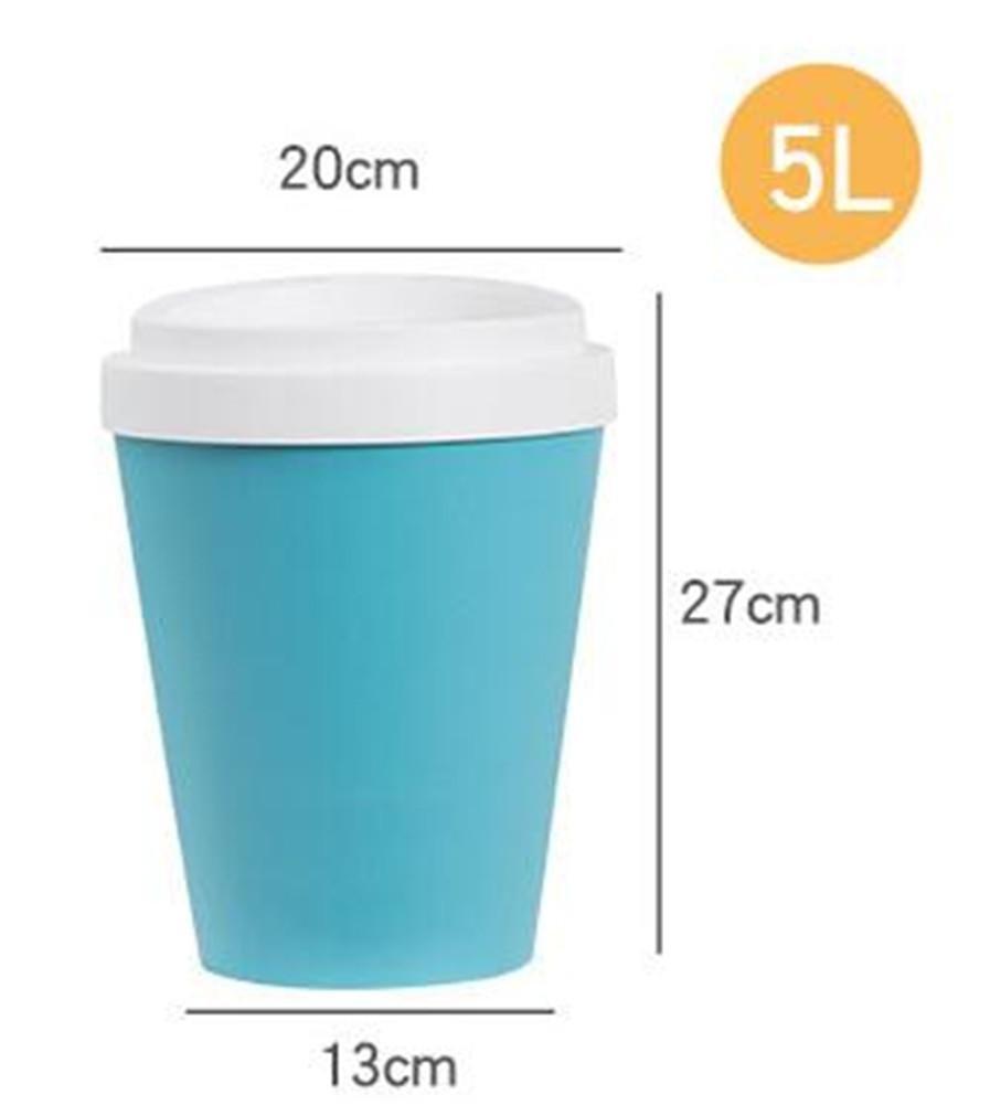 LJTSHB Cubo de Basura Cubos de Basura Basura Basura Tipo de la Taza Europea Plástico más Grueso Grueso 360 ° Oscilación Top Labio 5L, 9L 3cbdc4