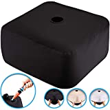 Rhino BaseMate NEW~Water filled patio umbrella base weight bag~No Mess, Easy Storage~multiple covers included for any decor, fits all umberellas (18in by 18in by 7in)