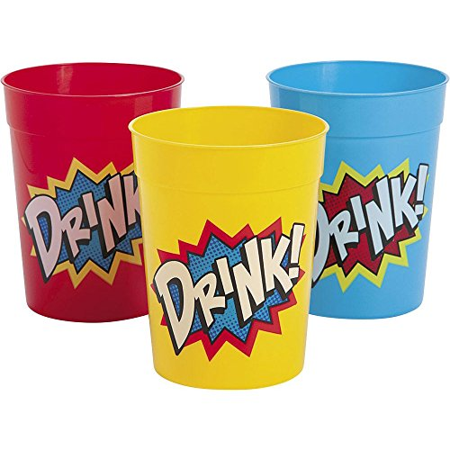 Fun Express Superhero Plastic Cups