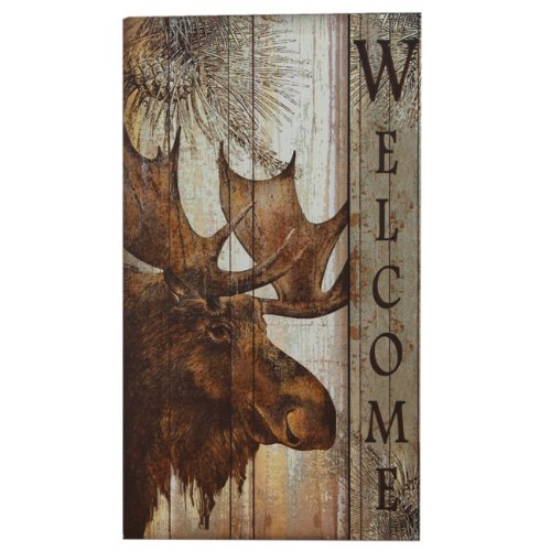 (Moose Welcome Lodge Sign - Wilderness Decor)
