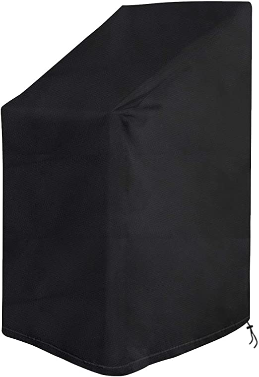 Vzesok Funda para Sillas Apilables Impermeable Funda Protectora para Sillas de Jardín 420D Oxford Tejido de Poliéster Negro 65 x 65 x 80/120cm: Amazon.es: Jardín