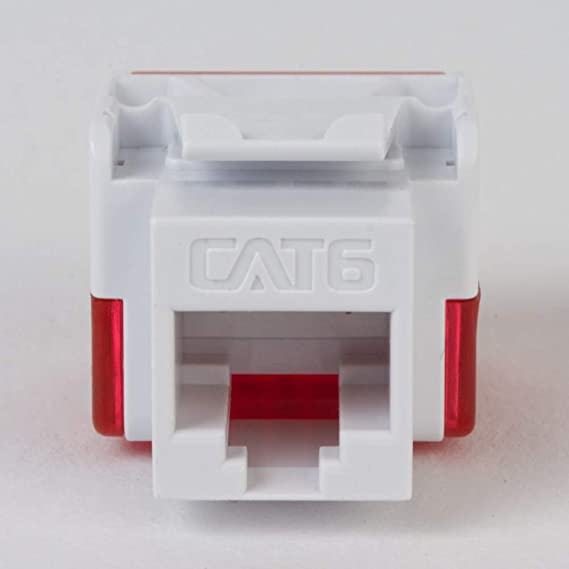Installation Equipment // Wall Jacks//Inserts 25PK Cat6 Jack ICC IC107L6CIV Ivory