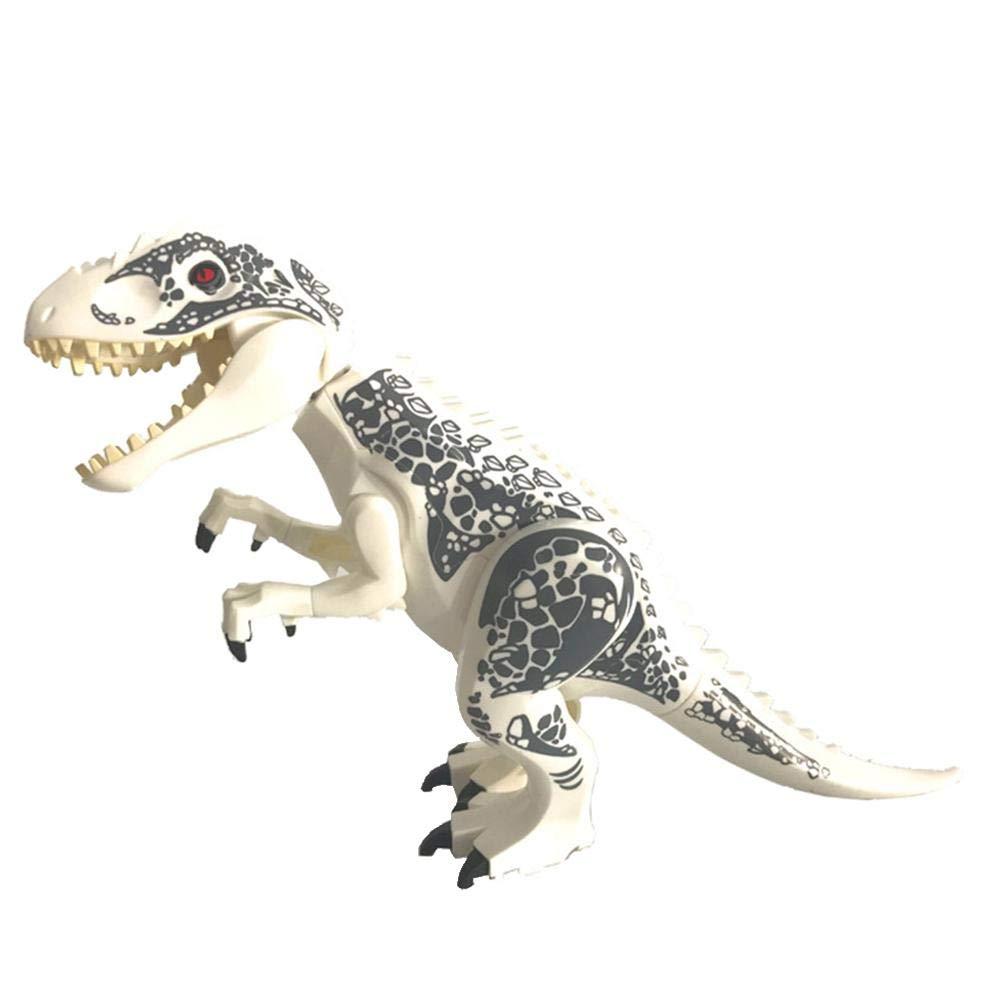 welltobuy High Simulation Dinosaurier - Hot Groß e Indominus Rex Dinosaurier Spielzeug Jurassic World Dinosaurier Figur Blö cke Statische Dinosaurier Figuren Dekoration Raptor Spielzeug Set CE