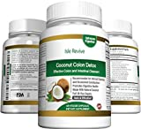 Coconut Oil Cleanse Coconut Colon Detox Supplement Super Formula for Cleanse and Weight Loss - Best All Natural Daily Digestive Cleanser and Detoxifier for Maintenance and Flushing Impurities and Toxins - 60 Veggie Caps