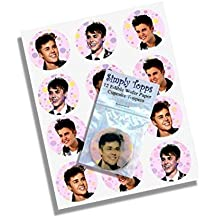 12 Justin Bieber rice paper fairy / cup cake 40mm toppers pre cut decoration