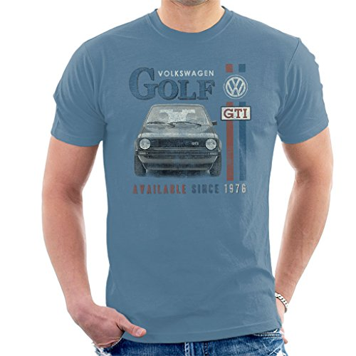 Volkswagen Racing - Official Volkswagen Golf GTI Racing Distressed Men's T-Shirt