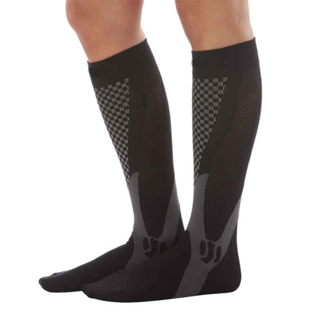 Republe 1 par Unisex de la Rodilla de Alta compresió n Medias de fú tbol Largo Pata de Apoyo de Estiramiento al Aire Libre Calcetines Calcetines de Baloncesto