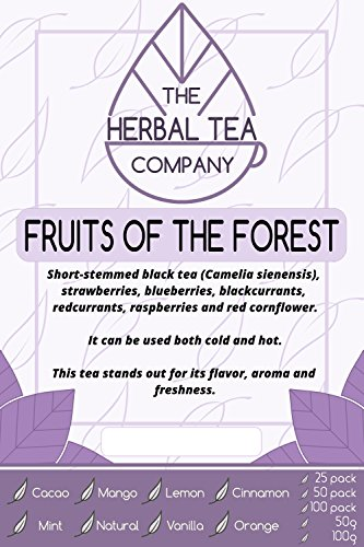Prickly Pear Fruits Of The Forest Tea Blend Tea Bags With Natural Flavour 25 Pack