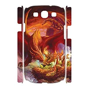 J-LV-F Red Dragon Customized Hard 3D Case For Samsung Galaxy S3 I9300