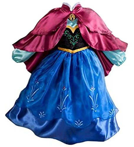 Paisley Costumes Dress (Uget? Girls Frozen Snow Romance long-sleeved snowflake snow princess dress Blue-4 Years by Uget?)