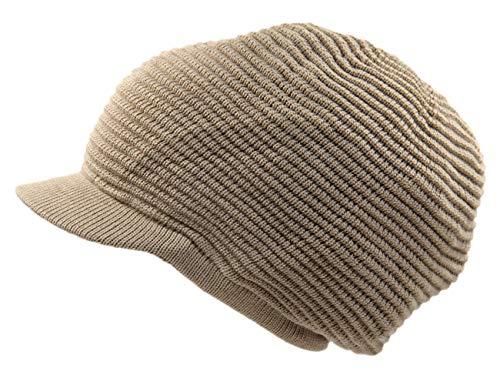 (RW Rasta 100% Cotton Knitted Slouchy Beanie XL (Khaki/Brim))